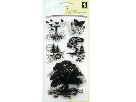 Inkadinkado Utopiary Clear Stamp Set #99550