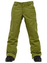 Burton Sweetart Cargo Pants Girls Snowboard Ski Waterproof Insulated Olive XL 18 image 1