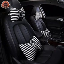 DEFOE® Creative Car Bow Knot Neck Waist Pillow Seat Backrest Headrest Ca... - $35.46+