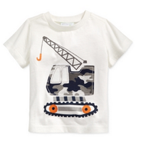 First Impressions Baby Boys' Long-Sleeve Forklift T-Shirt,Angel White,Size 3-6 M - $8.90