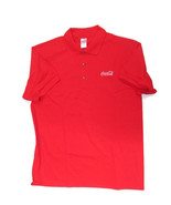 Coca-Cola Red Polo Golf Shirt with Embroidered Logo 100% Cotton X-Large XL  - $17.08