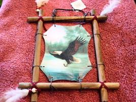 EAGLE WOOD FRAMED FRAME PICTURE - $9.40