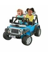 Power Wheels Deluxe Jeep Rubicon Wrangler 12V Ride-On, Blue - $346.49