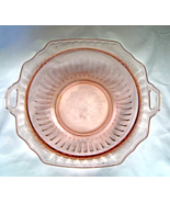 "Vintage Pink  Depression Glass 11"" Jeanette Cherry Blossom Double Handl... - $14.95"