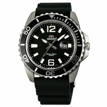 Orient Men's 42mm Black Rubber Band Steel Case Quartz Analog Watch FUNE3... - $122.50