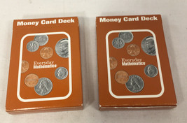 Lot of 2 Everyday Mathematics Money Card Deck Learn Homeschool Used Comp... - $7.91