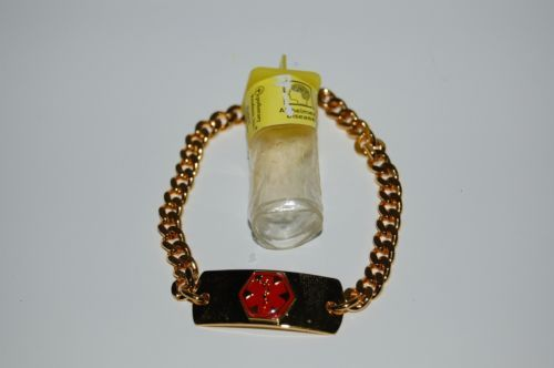 Apothecary Products 91000 Gold Color Alzheimers Medical Alert Bracelet