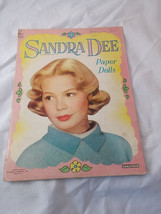 1959 Sandra Dee Paper Dolls Folder Dress Clothing From Book Loose Toy Or... - $16.82