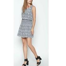 Joie Lawska Python Print Silk Dress, Grey Steel, Size L NWT $298 - $151.92