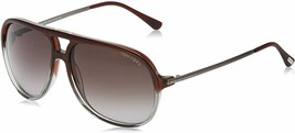 Tom Ford DAMIAN Bordeaux Clear / Gray Gradient Sunglasses TF333 71P 59mm - $214.62