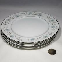 "Lot of 4 English Garden Platinum Salad Plates 7 5/8"" Fine China Japan 1221 - $25.95"