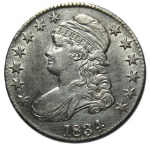 1834 Capped Bust Half Dollar 50¢ Coin Lot# MZ 4217