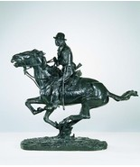 Trooper of The Plains Pure American Bronze Statue by Frederic Remington ... - $5,650.00