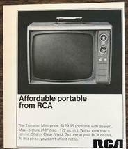 1968 RCA Trimette Portable TV PRINT AD At This Price, You can't Afford N... - $9.75