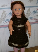 American Girl Crocheted Brown Dress, Handmade, 18 Inch Doll - $22.00