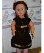 American Girl Crocheted Brown Dress, Handmade, 18 Inch Doll - $22.00