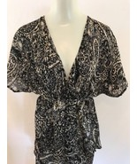Motherhood Maternity Black White Shirt Blouse Size Medium Empire Waist T... - $8.54