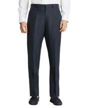 Brooks Brothers Mens Navy Blue Regent Linen Flat Front Pants 40L Long 86... - $114.05