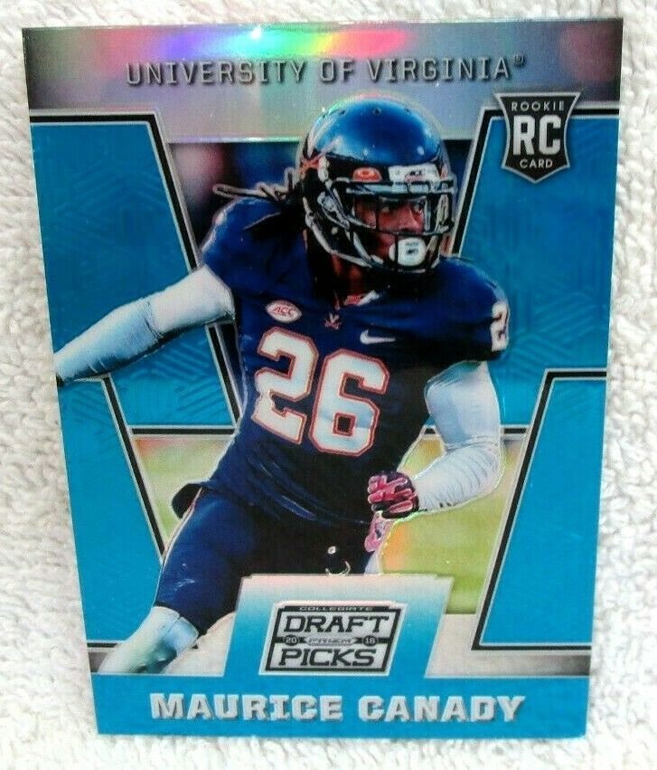 Primary image for MAURICE CANADY RC 2016 PANINI PRIZM DRAFT PICKS BLUE REFRACTOR#223 PSA10?RAVENS