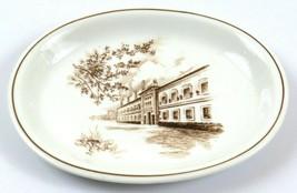 Vintage Vista Alegre Fabrica Portugal Plate Trinket Dish w/Building Scene - $12.86