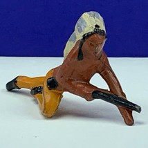 Cast iron cowboy indian lead toy soldier native american western rifle s... - $24.70