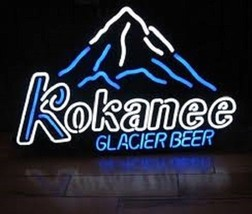 "New Kokanee Glacier Beer Mountain Logo Bar Light Lamp Neon Sign 24""x20"" - $182.33"