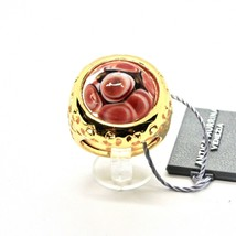 RING ANTICA MURRINA VENEZIA WITH DISC WITH MURANO GLASS RED GOLDEN AN205A14 image 2