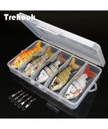 TREHOOK 5pcs Sinking Wobbler Set Crankbaits Fishing Kit Artificial Bait ... - £12.15 GBP+