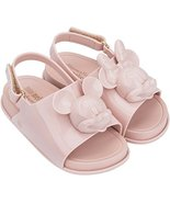 Mini Melissa Girls' Mini Beach Slide Sandal + Disney Ballet Flat, Sand, ... - $68.31