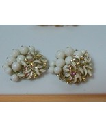 Up-cycled Vintage AB & White Bead Jewelry Refrigerator Magnet Set of 2 - $17.81