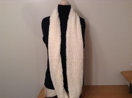 Fashion long  infinity faux fur scarf warm cozy choice of color solids image 3
