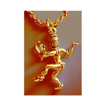 NICE Gold Plated Hindu Dancing Shiva Nataraja Sanskrit Charm lord of dan... - $22.92