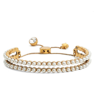 Marc By Marc Jacobs Faux Pearl Friendship Bracelet Color CREAM-ANTIQUE Gold