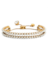 Marc by Marc Jacobs Faux Pearl Friendship Bracelet Color CREAM-ANTIQUE GOLD - $69.29