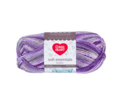 Red Heart Soft Essentials Baby Royal Lilac Knitting & Crochet Yarn - $7.00