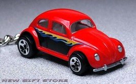 KEY CHAIN RING RED WITH FLAME VOLKSWAGEN VW BEETLE OLD BUG NEW!! CUSTOM ... - $15.98