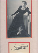 Joan Fontaine beautiful photo double matted with a gorgeous signature.Ni... - $24.95