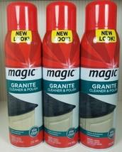 Lot Of 3 Magic Granite Cleaner & Polish Aerosol 17 Fl Oz Discontinued New - $89.10