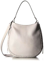 Rebecca Minkoff HSP7GUWH32 Unlined Convertible Whipstitched Leather Hobo... - $89.09