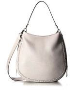 Rebecca Minkoff HSP7GUWH32 Unlined Convertible Whipstitched Leather Hobo... - $147.51