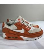 Nike Air Max 90 2010 Orange White Men's 10.5 Trainer Athletic Texas Long... - $67.00