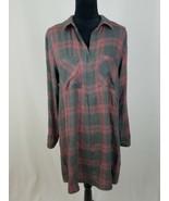 Cloth & Stone Donna M Plaid Abito Scamiciato Muffin Manica Lunga - $49.76