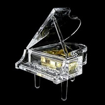 Gorgeousstyles Acrylic Piano Shaped Music Box for Home Decor - $25.19