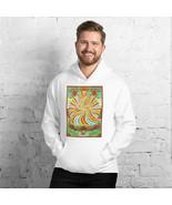Free Spirit - Rainbow Buddha and Samsara Wheel - Unisex Hoodie - $48.50