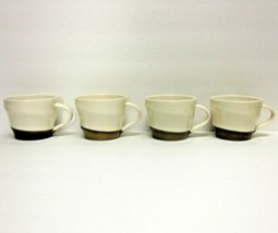 Starbucks Coffee Company Lot (4) 12 Oz 2013 Bronze Dipped Ivory Wide Cups - $63.38