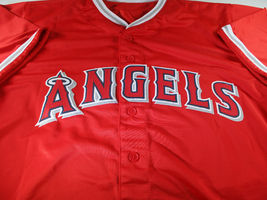MIKE TROUT / AUTOGRAPHED LOS ANGELES ANGELS RED CUSTOM BASEBALL JERSEY / COA image 2