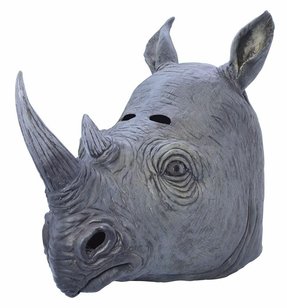 Rhino Mask, Fancy Dress, Accessory Animal Mask