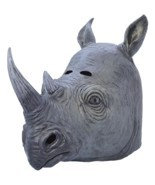 Rhino Mask, Fancy Dress, Accessory Animal Mask - £19.58 GBP
