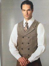 Butterick Sewing Pattern 6339 Mens Six Vests Size XL-XXXL New - $16.76