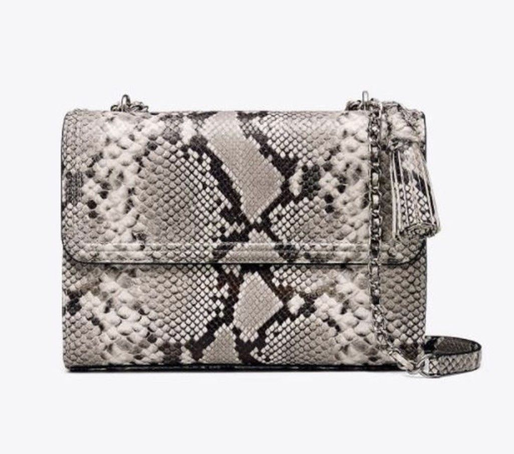 NWT Tory Burch Fleming Embossed Snake Convertible Shoulder Bag New $598 image 1